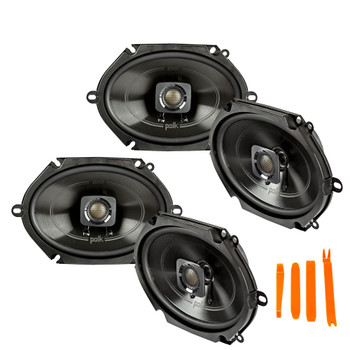 "Polk Audio - Two Pairs Of DB572 5x7"" Coaxial Speakers - Marine and Powersports Certification"