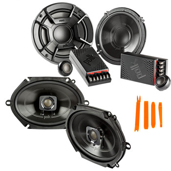 """Polk Audio - A Pair Of DB6502 6.5"""" Components and A Pair Of DB572 5x7"""" Coax Speakers  - Bundle Includes 2 Pair"""