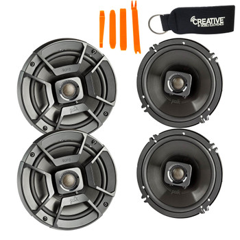 "Polk Audio - Two Pairs Of DB652 6.5"" Coaxial Speakers - Marine and Powersports Certification"