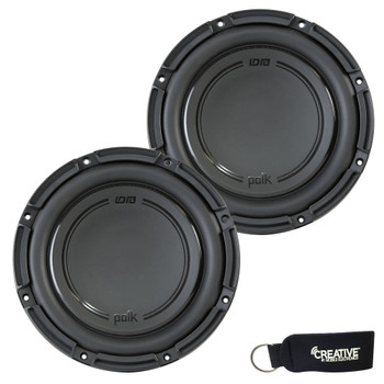 "Polk Audio -Two DB1042SVC 10"" Single 4-Ohm Voice Coil Subwoofers, Bundle - Marine Certified"