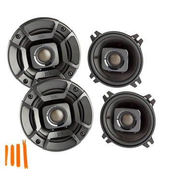 "Polk Audio - Two Pairs Of DB402 4"" Coaxial Speakers - Marine and Powersports Certification"
