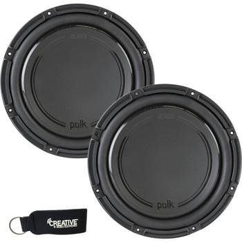 "Polk Audio -Two DB1242DVC 12"" Dual 4-Ohm Voice Coil Subwoofers, Bundle - Marine Certified"