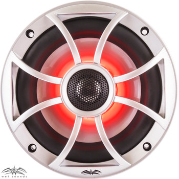 "Wet Sounds - Four Pairs Of RECON6-S-RGB LED 6.5"" 60-Watt RMS Coaxial Speakers With Silver XS Grilles"