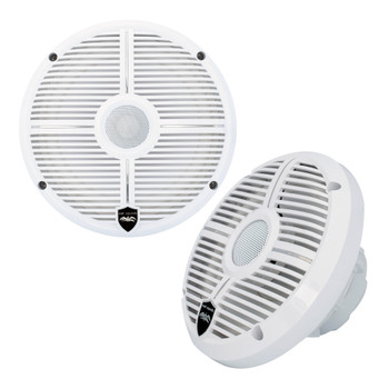 """Wet Sounds - Four Pairs Of RECON 6 XW-W RGB LED Recon Series 6.5"""" 60-Watt RMS Coaxial Speakers With White XW Grilles"""