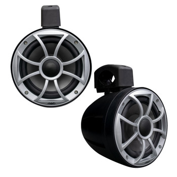Wet Sounds - Two Pairs Of Black RECON 6 POD-B 6.5 Inch Tower Speakers & STX Micro-4 Amplifier