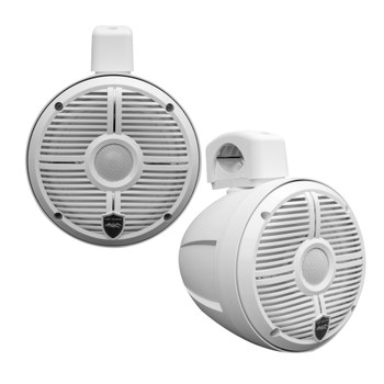 Wet Sounds - Two Pairs Of White RECON 6 POD-W 6.5 Inch Tower Speakers & MB Quart NA2-400.2 Amplifier
