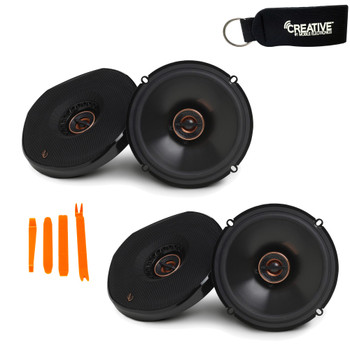 Infinity - Two Pairs Of REF-6532EX Reference 6.5 Inch Two-Way Coaxial Shallow Mount car audio Speakers