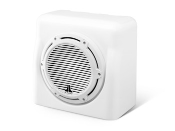 JL Audio FS110-W5-CG-WH:Single M10W5 Fiberglass Sealed Enclosure White Classic Grille 4 Ω