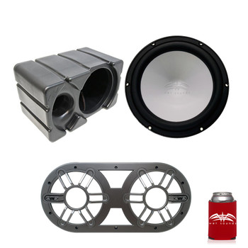 Wet Sounds REVO 10 High Power S4-B Black  10 Inch 4 Ohm Subwoofer, with Ported Enclosure and Subwoofer Vent Panel
