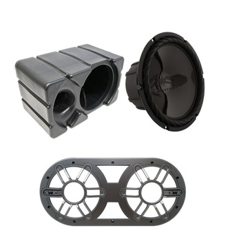 """Wet Sounds SS-10BS4 Black 10"""" Single 4 Ohm Marine Subwoofer with Ported Enclosure and Subwoofer Vent Panel"""