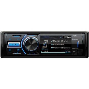 "JVC KD-X560BT 1-DIN Digital Media Receiver With Bluetooth, USB, 3"" Display, & Coated PCB"