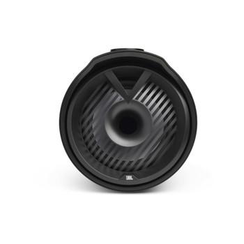 "JBL MT6HLB 6.5"" RGB LED Marine Tower Speakers, a Kicker 44KXMA400.2 Amp and a Kicker KMLC LED Controller"