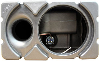 Waves and Wheels MSE Ported Marine Grade Subwoofer Enclosure + Mounting Brackets & White Subwoofer Vent Panel