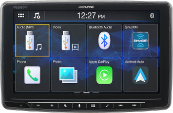 Alpine iLX-F259 Halo Media Receiver with CarPlay and Android Auto, Includes HCE-C114 and KTX-C10LP back up camera kit