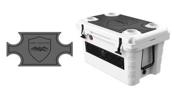 Wet Sounds SHIVR-55 Cooler GatorStep Top Skin Kit - Gray Over Black