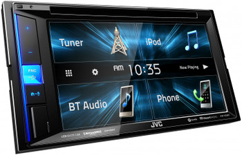 "JVC Refurbished KW-V25BT Multimedia Receiver featuring 6.2"" WVGA Clear Resistive Touch Monitor / Bluetooth / 13-Band EQ"