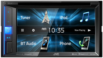 """JVC Refurbished KW-V25BT Multimedia Receiver featuring 6.2"""" WVGA Clear Resistive Touch Monitor / Bluetooth / 13-Band EQ"""