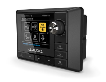 JL Audio MM100S-BE MediaMaster Marine Source Unit with Full-Color LCD Display & MMR-40 NMEA 2000 Wired Remote