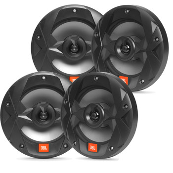 JBL MS8B OEM Replacement Marine 8 Inch Two-way Speakers - Four Speakers, Black