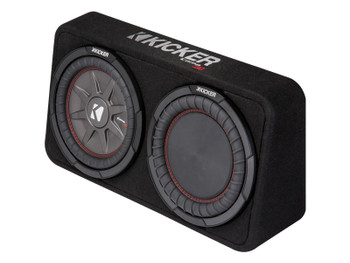 Kicker 43TCWRT104 CompRT 10-inch Subwoofer in Thin Profile Enclosure, 4-Ohm, 400W - Used Very Good