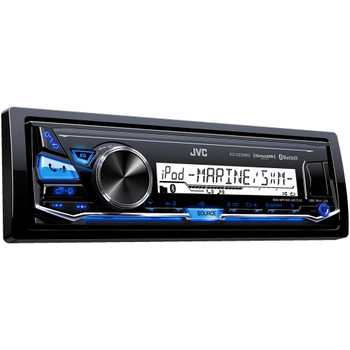JVC KD-X33MBS Single DIN Marine Grade Bluetooth In-Dash Mechless Stereo with FLAC playback and SiriusXM Ready