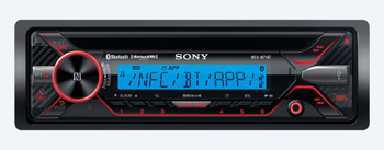 "Sony MEX-M71BT Marine CD & Bluetooth Receiver Package with Kicker Black 6.5"" Marine Speakers (1 Pair)"