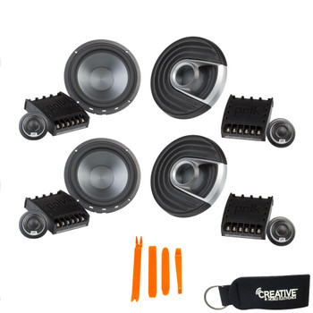 """Polk MM6502 6.5"""" Component Speaker Bundle Includes 2 Pair with Marine and Powersports Certification"""