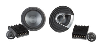 "Polk MM6502 6.5"" Front Component and Rear MM652 6.5"" Coax Speaker System Bundle Includes 2 Pair"