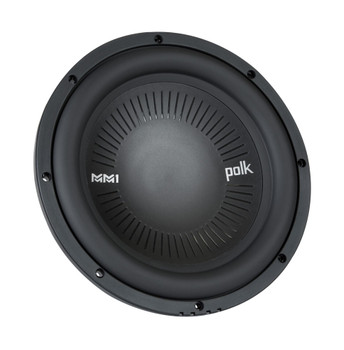 "Polk MM1042SVC 10"" Single 4-Ohm Voice Coil Subwoofer Bundle Includes 2 woofers with Marine Certification"