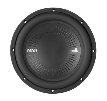 """Polk MM1042SVC 10"""" Single 4-Ohm Voice Coil Subwoofer Bundle Includes 2 woofers with Marine Certification"""