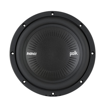 "Polk MM842DVC 8"" Dual 4-Ohm Voice Coil Subwoofer Bundle Includes 2 woofers with Marine Certification"