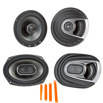 """Polk MM652 6.5"""" Front Coaxial and Rear MM692 6x9"""" Speaker System Bundle Includes 2 Pair"""