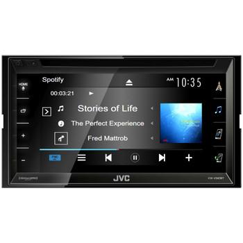 JVC KW-V340BT Bluetooth DVD/CD/USB Includes Sirius XM SXV300 Back Up Camera and SWI-RC Interface