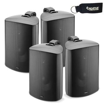 """Focal 100 OD8 8"""" Outdoor Loudspeakers, IP66 Rated - Black Pairs, 4 Speakers"""