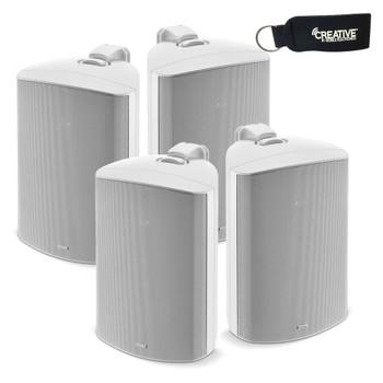"Focal 100 OD8 8"" Outdoor Loudspeakers, IP66 Rated - White Pairs, 4 Speakers"