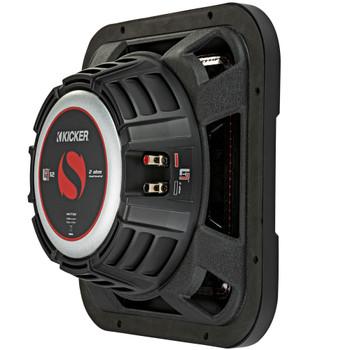 Kicker 46L7T122 L7T L7-Thin 12-Inch (30cm) Subwoofer, Dual Voice Coil, 2-Ohm, 600 Watt