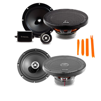 """Focal Auditor Bundle - RSE-165 6.5"""" 2-Way Component Speakers (pair) And RCX-165 6.5"""" 2-Way Coaxial Speakers (pair)"""