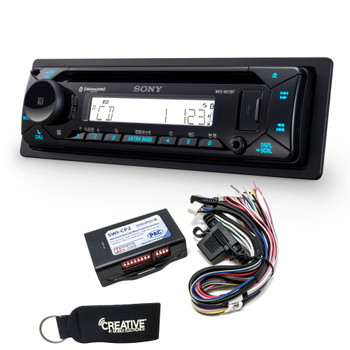 Sony MEX-M72BT Marine Bluetooth/CD Receiver & Handle Bar Control Interface for Harley Davidson 1998-2013
