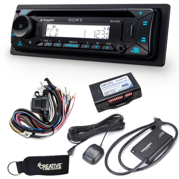 Sony MEX-M72BT Marine Bluetooth/CD w/ SiriusXM Tuner & Handle Bar Interface for Harley Davidson 1998-2013