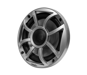 "Wet Sounds RECON5-S Recon Series 5.25"" 50-Watt RMS Coaxial Speakers With Silver XS Grille And Cone (Pair)"