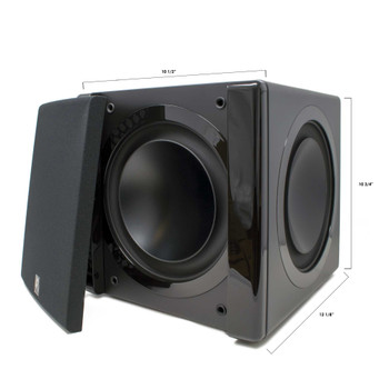 "Niles SW8 8"" Compact Powered Home Theater Subwoofer With Dual Passive Radiators - 1200 Watt - Used Very Good"