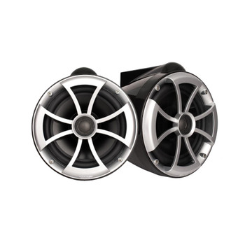 Wet Sounds - ICON 8 Fixed Aluminum Clamp 8-Inch Tower Speakers - Black (pair)