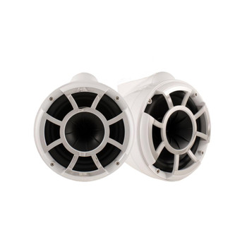Wet Sounds - REV 10 Fixed Aluminum Clamp 10-Inch Tower Speakers - White (Pair)
