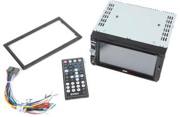 "Jensen VX2529 DVD AV Receiver with USB, MicroSD, 6.2"" touchscreen and bluetooth"
