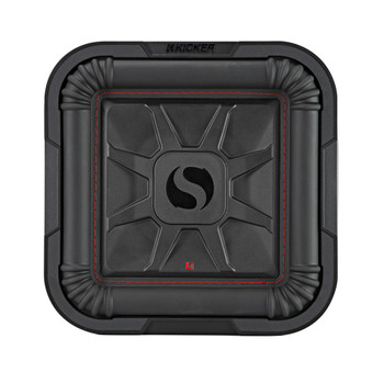 Kicker 46L7T102 Two L7T L7-Thin 10-Inch (25cm) Subwoofers, Dual Voice Coil, 2-Ohm, 500 Watts Each