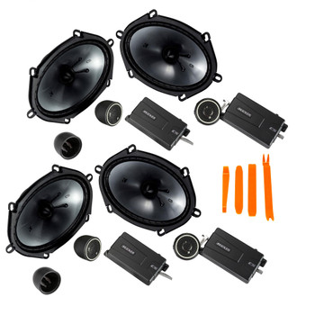 Kicker 46CSS684 - Two Pairs Of CS-Series CSS68 6x8-Inch Component System with .75-inch tweeters, 4-Ohm (2 Pairs)