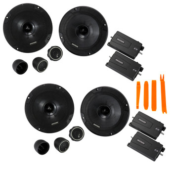 Kicker 46CSS654 - Two Pairs Of CS-Series CSS65 6.5-Inch (160mm) Component System with .75-inch tweeters, 4-Ohm (2 Pairs)