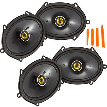 Kicker 46CSC684 - Two Pairs Of CS-Series CSC68 6x8-Inch (160x200mm) Coaxial Speakers, 4-Ohm (2 Pairs)