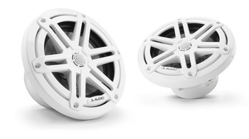 "JL Audio M3-650X-S-Gw - M3 6.5"" Marine Coaxial Speakers (pair) - Gloss White Sport Grilles"