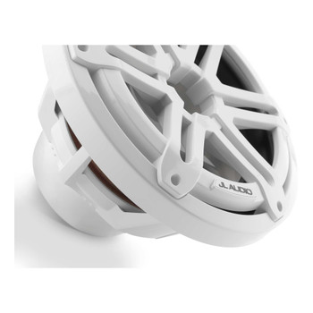 "JL Audio M3-10IB-S-Gw-4 - M3 10"" 4-Ohm Infinite Baffle Marine Subwoofer - Gloss White Sport Grille"